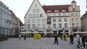 реклама Стокманна на ратушной площади. Такие же были и в Риге.