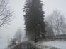 """В сильном  тумане по  дороге в  горный замок """" Карканош"""""""
