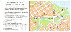 Карта центра Петрозаводска