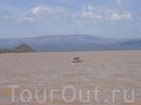 Озеро Рудольф в Кении или оазис в пустыне