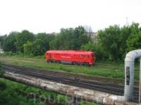 паровозик на подходе к вокзалу