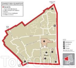 Схема христианского квартала Иерусалима