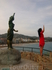 Одна из достопримечательностей Ллорет де Мара )) Monument a la Dona Marinera (Ernest Maragall, 1966)  Возведена в честь жён моряков. Легенда гласит ...
