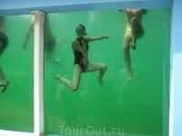 В аквапарке главной нашей забавой было вот такое ныряние)