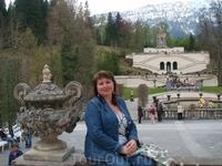 Вид на террасы и храм Венеры в Линдерхоф
