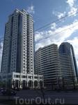 Район Грозный Сити. Здесь квартирка у Депардье.