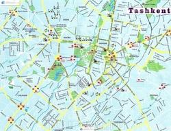 Карта-схема маршрутов пассажирского транспорта Ташкента