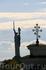 Вид на монумент Родине-Матери из Киево-Печёрской лавры.