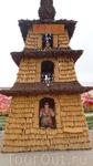 """Пагода из кукурузы в ботаническом саду """"Дзифа"""""""