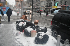 снег, мусор
