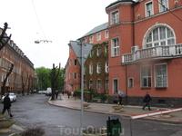 Старая улица в Калининграде, наследие Германии.