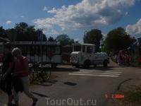 Это тот самый паровозик, что ходит по центру Лаппенранты.