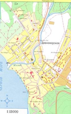 Карта Дивноморского