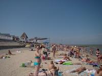 Пляж в городе Приморско-Ахтарске 2012 г.