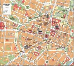 Карта Старого города Мюнхена