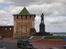 """Георгиевская башня названа по имени располагавшейся на месте нынешней гостиницы """"Волжский откос"""" одного из красивейших храмов Нижнего - церковь святого ..."""