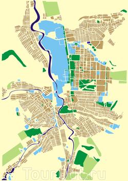 Карта Краматорска