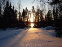 Февраль 2012г. Тропа к озеру. Закат.
