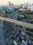 Хаотичный и беспорядочный город Бангкок
