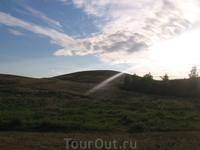 Восход солнца над горой Шаманкой