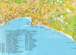 Карта Ялты с улицами