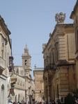 Улица Виллеганьон, слева - дворец Святой Софии и церковь кармелиток, справа - палаццо Констанцо