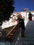 Лестница ведущая к колокольне