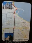 План - маршрут передвижения в г.Бари, Базилика св.Н.Чудотворца до Православного - Русского Подворья