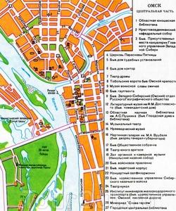 Карта центра Омска