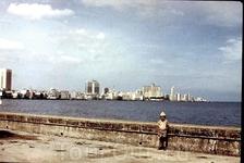 Малекон, вид на новую часть Гаваны
