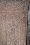 Это очень необычный хачкар. Обычно на крест-камнях не изображают Христа, а вырезают кресты и узоры. Существует всего несколько хачкаров с ликом Христа ...
