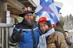 С финским болельщиком.
