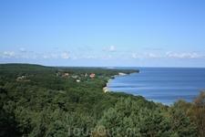 Вид на деревню и залив с одной из высокой точки дюны