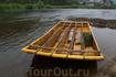 Современный плот для спуска по реке Дунаец