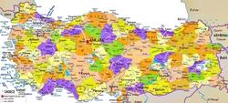 Карта Турции