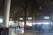Аэропорт в Пунта-Кане - частный, построен на деньги богатого местного жителя. Выглядит достаточно оригинально-огромный навесы покрытые соломой.
