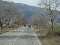 Дорога от аэропорта до Банско - 4 января - снега нет, мы в шоке...