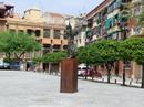 Музей стоит на тихой уютной площади San Agustín с красивым памятником в виде ангела. На памятнике табличка, что это подарок городу от Casa Mediterranea. Больше мне о нем узнать ничего не удалось, но место мне понравилось.
