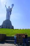 Родина-мать. Она на 12 метров выше Волгоградской и на 5 метров выше Статуи свободы.