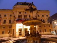 По возвращении из Вены - вечерняя Братислава.