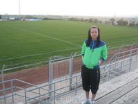 стадион футбольной команды из 3-й лиги ))) у нас не вся премьер-лига может такое шикарное покрытие себе позволить :))
