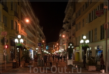 улицы ночной Ниццы