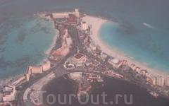 Канкун. снимок с самолета