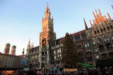 Мариенплац, Новая Ратуша и рождественский базар
