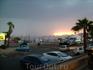 День первый. Набережная города Эйлат. Около 6 вечера по-местному.Где закат Солнца - там находится Египет.