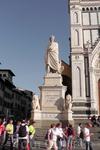 Вот наконец и Флоренция. Памятник Данте Алигьери родоначальнику итальянского языка.