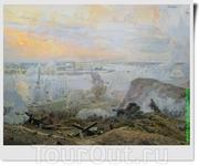На диораме «Форсирование Днепра» (автор – народный художник РФ В.К. Дмитриевский) можно увидеть момент форсирования реки Днепр в сентябре – октябре 1943 ...