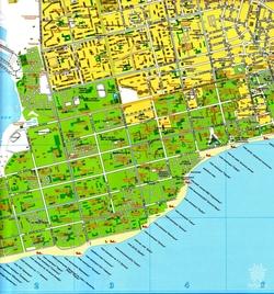 Карта Евпатории с домами
