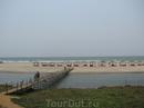 Пляж Мандрем. Вид из шека.
