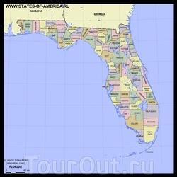 Karta Floridy S Dostoprimechatelnostyami Oteli Mesta Foto Na Karte